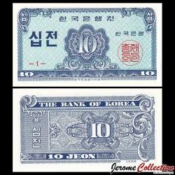 CORÉE DU SUD - Billet de 10 Jeon - 1962 P28a