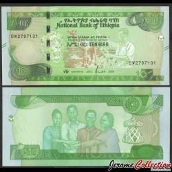 ETHIOPIE - Billet de 10 Birr - Chameau, récolte de café - 2020 P53a