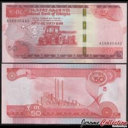 ETHIOPIE - Billet de 50 Birr - Tracteur - 2020 P54a