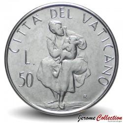 VATICAN - PIECE de 50 Lires - La maternité - 1982 Km#163