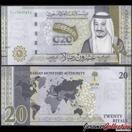 ARABIE SAOUDITE - Billet de 20 Riyals - Sommet du G20 - 2020 P44a