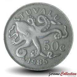 TUVALU - PIECE de 50 Cents - Pieuvre - 1985 Km#6