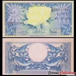 INDONESIE - Billet de 5 Lima Rupiah - 1959 P65a