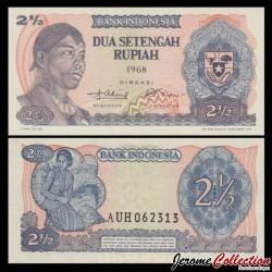INDONESIE - Billet de 2½ Rupiah - Général Sudirman - 1968 P103a