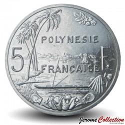 TAHITI / POLYNÉSIE FRANÇAISE - PIECE de 5 Francs - 2020 Km#12