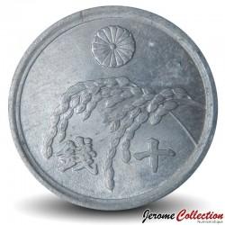 JAPON - PIECE de 10 Sen - Tige de riz - 1946 Y#68