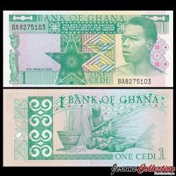 GHANA - Billet de 1 Cedi - Vannier - 1982 P17b
