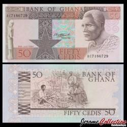 GHANA - Billet de 50 Cedis - Récolte de cacao - 1980 P22b