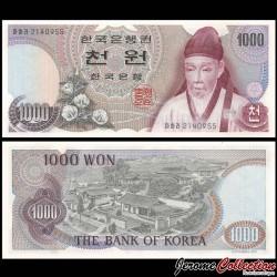 CORÉE DU SUD - Billet de 1000 Won - Yi Hwang - 1975 P44a