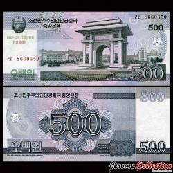 COREE DU NORD - Billet de 500 Won - Arc de triomphe - 100 ans de Kim Il-sung - 2012 PCS14a