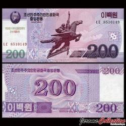 COREE DU NORD - Billet de 200 Won - Statue Cheval - 100 ans de Kim Il-sung - 2012 PCS13a