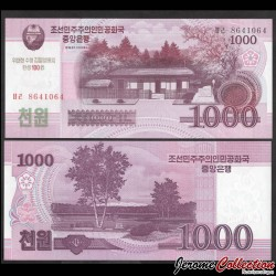 COREE DU NORD - Billet de 1000 Won - Mangyongdae - 100 ans de Kim Il-sung - 2012 PCS15a