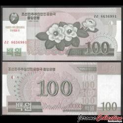 COREE DU NORD - Billet de 100 Won - Magnolia - 100 ans de Kim Il-sung - 2012 PCS12a