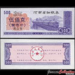 CHINE - Province du Henan - Ville de Shangqiu - Ticket de rationnement - 500 - Train- 1991 Shangqiu 500