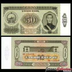 MONGOLIE - Billet de 50 Tögrög - Sukhe Bataar - 1966 P40a