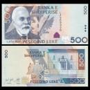 ALBANIE - Billet de 500 Leke - Ismail Qemali - 2015