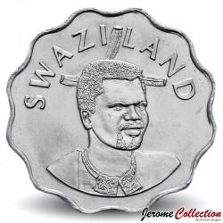 SWAZILAND - PIECE de 20 Cents - Elephant / Roi Mswati III - 2005