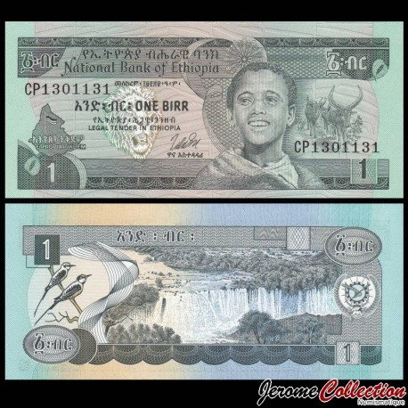 ETHIOPIE - Billet de 1 Birr - Cascades de Tisisat - 1976 P30b