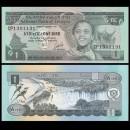 ETHIOPIE - Billet de 1 Birr - Cascades de Tisisat - 1976