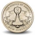 ETATS UNIS / USA - PIECE de 1 Dollar - Industrie et l'innovation - Liberty Bell - New Jersey - D - 2019 Km#new