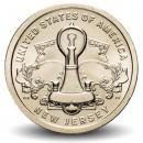 ETATS UNIS / USA - PIECE de 1 Dollar - Industrie et l'innovation - Liberty Bell - New Jersey - D - 2019