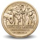 ETATS UNIS / USA - PIECE de 1 Dollar - Industrie et l'innovation - Trustees' Garden - Géorgie - D - 2019