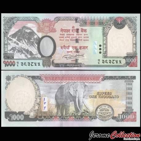 NEPAL - Billet de 1000 Roupies - Elephant - 2016 P75b