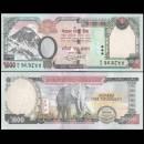 NEPAL - Billet de 1000 Roupies - Elephant - 2016