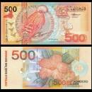 SURINAME - Billet de 10 Gulden - Oiseau Coq-de-roche orange - 2000