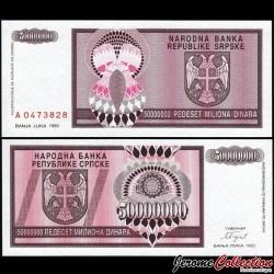 BOSNIE HERZEGOVINE - Billet de 50 000 000 Dinara - 1993 P145a