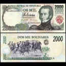 VENEZUELA - Billet de 2000 Bolivares - 6.8.1998