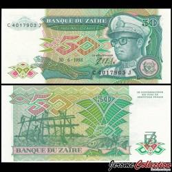 ZAIRE - Billet de 50 Zaïres - Mobutu - 30.6.1988 P32a