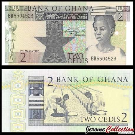 GHANA - Billet de 2 Cedis - Plantation de riz - 1982 P18d
