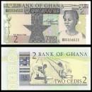 GHANA - Billet de 2 Cedis - Plantation de riz - 1982
