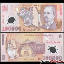 ROUMANIE - Billet de 100000 Lei - Nicolae Grigorescu - Polymer - 2001 / 2004 P114a4