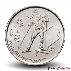 CANADA - PIECE de 25 CENTS - Vancouver 2010 - Hockey sur luge - 2009 Km#952