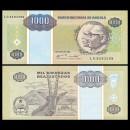 ANGOLA - Billet de 1000 Kwanzas Reajustados - Antilope noire - 1995