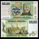 ARGENTINE - Billet de 500000 Pesos - 1981