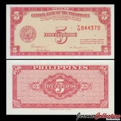 PHILIPPINES - Billet de 5 Centavos - 1949 P126a