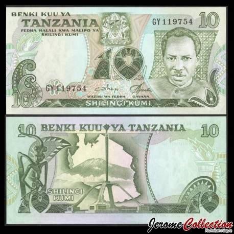 TANZANIE - Billet de 10 Shillings - 1978 P6c