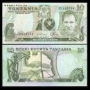 TANZANIE - Billet de 10 Shillings - 1978