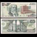 MEXIQUE - BILLET de 2000 Pesos - Justo Sierra - 1983