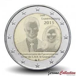 LUXEMBOURG - PIECE de 2 EURO - Grand-Duc Henri - 2015 Schön#127