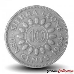 SIERRA LEONE - Pièce de 10 Cents - Sir Milton Margaï - 1964