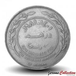 JORDANIE - Pièce de 100 Fils - Roi Hussein - 1981