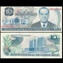 COSTA RICA - Billet de 10 Colones - Rodrigio Facio Brenes - 2.04.1986