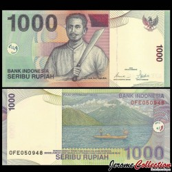 INDONESIE - Billet de 1000 Rupiah - Capitaine Pattimura - 2000