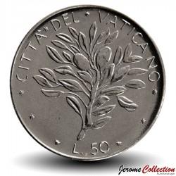 VATICAN - PIECE de 50 Lires - Rameau d'olivier - 1975