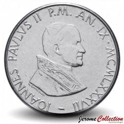 VATICAN - PIECE de 50 Lires - Protection de la Vierge Marie - 1987