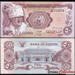 SOUDAN - BILLET de 50 Piastres - Président Jafar Muhammad an-Numeiri - 1981 P17a
